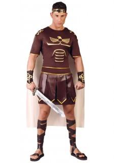 Römischer-Krieger-Kostüm für Herren braun-schwarz-gold