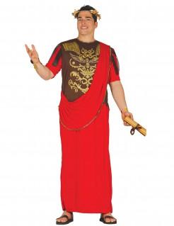 Antikes Römer-Kostüm rot-braun-gold