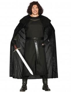 Ritter der Nacht Mittelalter-Herrenkostüm schwarz