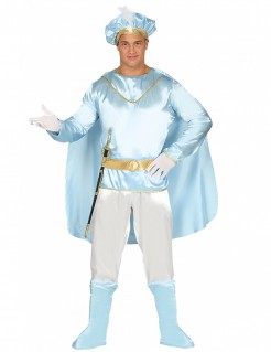 Märchenprinz-Herrenkostüm blau