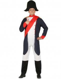 Napoleon-Kostüm Kaiser blau-weiss-rot