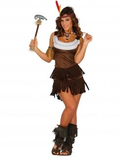 Süsses Indianerinnen-Kostüm Western braun