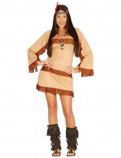 Indianerkostüm für Damen braun-beige
