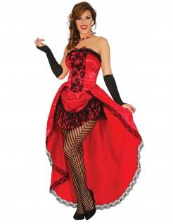 Burlesque-Kostüm für Damen Karneval rot