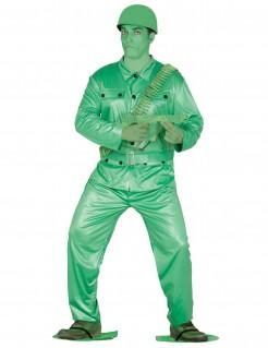 Kinder-Soldaten-Kostüm für Erwachsene grün