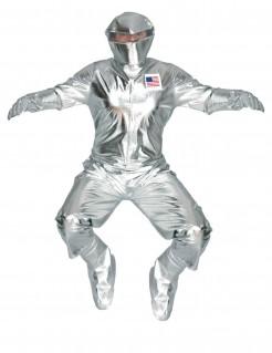 Glänzendes Astronauten-Kostüm Raumfahrer für Erwachsene silber