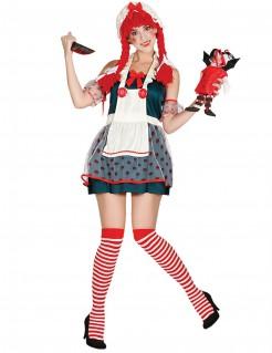 Halloween-Puppenkostüm für Damen bunt