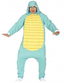 Süsses Schildkröten-Monster-Kostüm blau-gelb