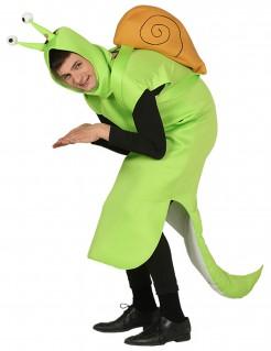 Schnecken-Kostüm Tierkostüm für Erwachsene grün