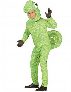 Chamäleon-Kostüm Tierkostüm für Erwachsene grün