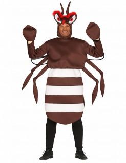 Moskito-Kostüm Insektenkostüm für Erwachsene braun-weiss