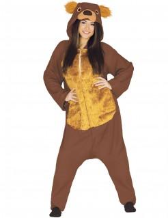 Braunbär-Kostüm für Erwachsene braun