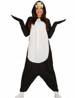 Süßes Pinguin-Kostüm für Erwachsene schwarz-weiss-gelb