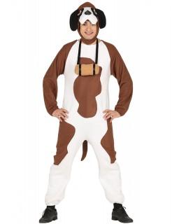 Berghund-Kostüm weiss-braun