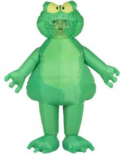 Aufblasbares Riesenfrosch-Kostüm grün