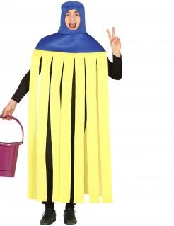 Witziges Mop-Kostüm für Erwachsene blau-gelb
