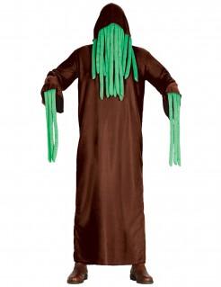 Tentakelmonster-Kostüm für Erwachsene Halloween-Kostüm braun-grün