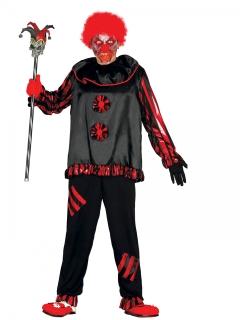Dämonischer Teufelsclown Horrorclown-Kostüm schwarz-rot