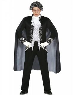 Barockes Phantom Herrenkostüm Halloween schwarz-weiß