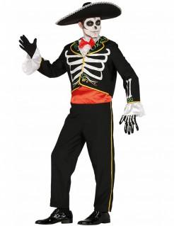 Mariachi-Skelett Herrenkostüm Día de los Muertos