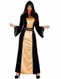 Böse Comtesse Damenkostüm Halloween schwarz-gold