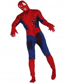 Untoter Superheld Halloweenkostüm rot-blau