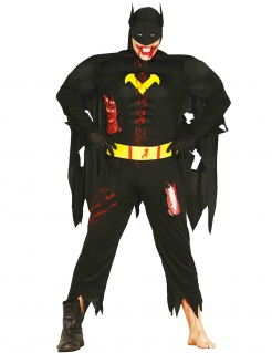 Zombie-Superheld Kostüm Halloween schwarz-gelb