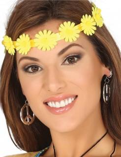 Blumen-Stirnband für Damen Kostüm-Accessoire gelb