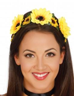 Sonnenblumen-Haarband Haarschmuck Accessoire gelb-grün