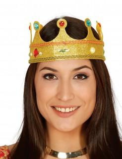 Königinnen-Krone für Erwachsene gold bunt
