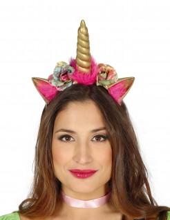 Einhorn-Haarreif für Erwachsene rosa