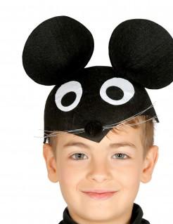 Maus-Kinderhut schwarz-weiss