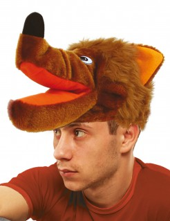 Wolf-Mütze für Erwachsene Kostümaccessoire braun