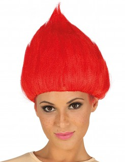 Troll-Perücke für Damen und Herren rot