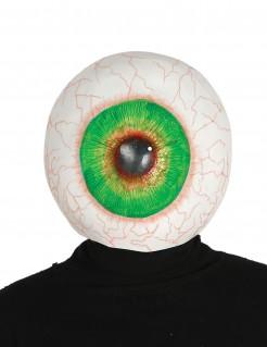 Schauriges Auge Halloween-Maske weiss-grün
