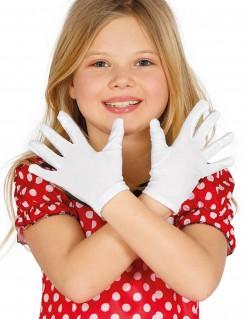 Kurze Handschuhe für Kinder weiss