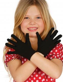 Kurze Handschuhe für Kinder schwarz