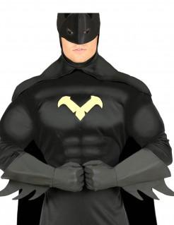 Superheldenhandschuhe mit Zacken in Schwarz
