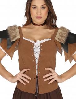 Mittelalter-Kostüm Korsage für Damen braun