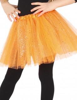 Tutu mit Glitter für Mädchen orange