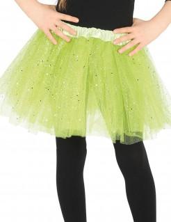 Tutu mit Glitter für Mädchen grün