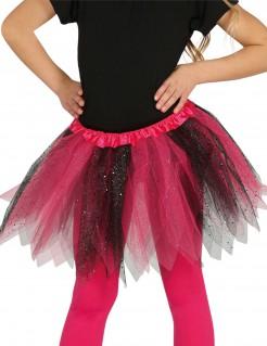 Tutu mit Pailletten für Mädchen schwarz-pink