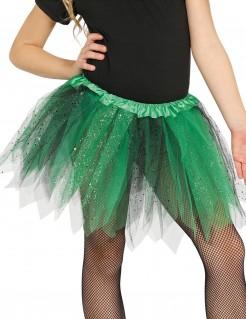 Tutu mit Glitter für Mädchen schwarz-grün