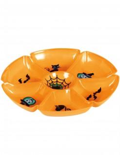 Halloween-Tablett Servierbrett mit Halloween-Motiven orange 29cm
