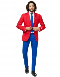 Mr. Spider-Man™ Herrenanzug von Opposuits™ blau-rot