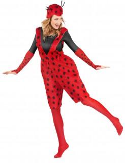 Niedlicher Marienkäfer-Damenkostüm Latzhose rot-schwarz