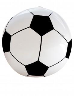 Fussball zum Aufblasen Fussball-Fanartikel weiss-schwarz 25cm
