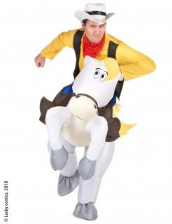 Jolly Jumper Carry-Me-Kostüm Lucky Luke™-Lizenzkostüm gelb-weiss