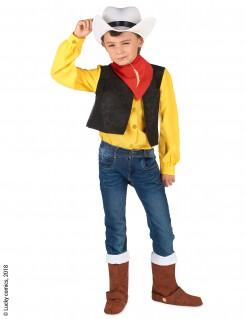 Lucky Luke™-Lizenzkostüm Cowboy-Kinderkostüm gelb-schwarz-rot