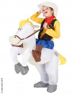 Jolly Jumper Carry-Me-Kostüm für Kinder Lucky Luke™-Lizenzkostüm gelb-weiss